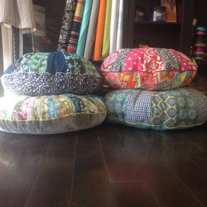 Working on demos for this weekend's floor pouf class #sewhouston #floorpouf #sewingclass #cypresstx #katytx #houstontx